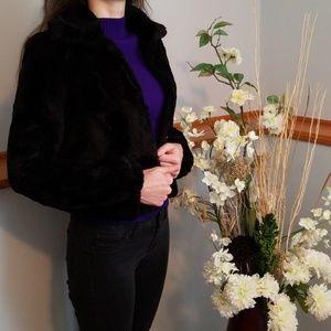 Ambiance Jackets & Coats - AMBIANCE, black faux fur coat!